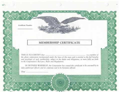 blank stock certificates  printable documents