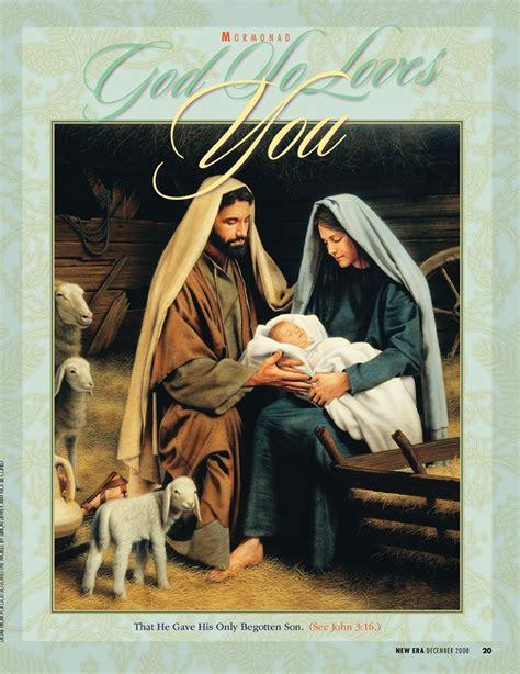 christmas mormonad lds mormon nativity art pinterest