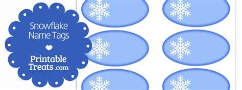 printable snowflake  tags printable treatscom