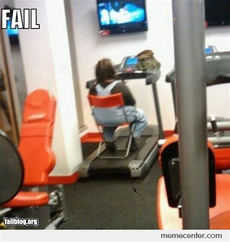 Treadmill Meme - classic treadmill fail by ben meme center