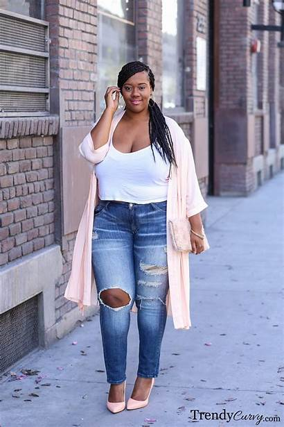 Jeans Blushing Blush Outfit Curvy Plus Trendy