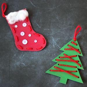 christmas craft  kids lacing ornaments cutesy crafts