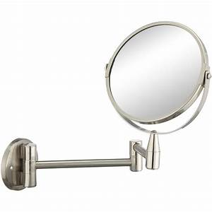 miroir grossissant x 25 rond a fixer percage h15 x l With miroir grossissant articulé salle bain