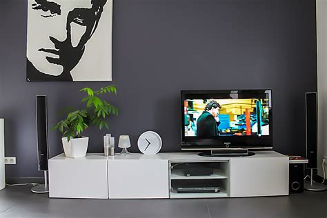 Besta Ikea Burs Tv Unit With Drawer Home Theatre