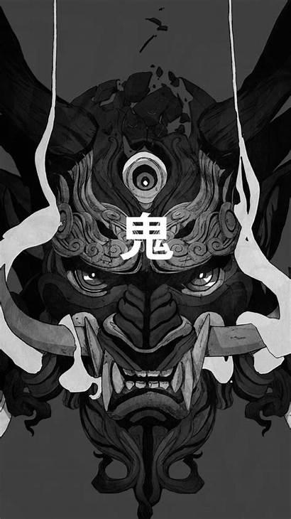 Japanese Mask Oni Demon Wallpapers Mobile Artistic