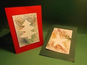 Weihnachtskarten Basteln Grundschule : die besten 25 weihnachtskarten basteln spritztechnik ~ Orissabook.com Haus und Dekorationen