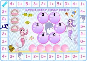 maths worksheet year 1 mermaid number bonds to 5 let me learn