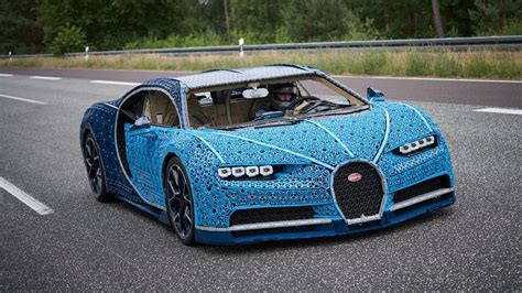 No, it can't achieve the real chiron's 261 mph (420 kph) to speed. This driveable Bugatti Chiron is made out of 1 million Lego blocks