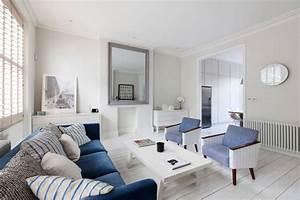 Maritime Möbel Blau Weiß : beispiel f r maritime wohnungseinrichtung in wei und blau ~ Bigdaddyawards.com Haus und Dekorationen
