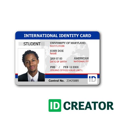 Id Card Template Simple Identity Card Call 1 855 Make Ids With Questions