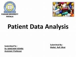 Patient data analysis