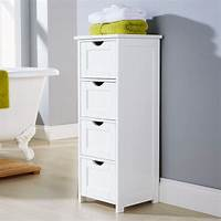 bathroom storage units WHITE MULTI-USE BATHROOM STORAGE UNIT 4 DRAWER CABINET CUPBOARD SHAKER STYLE | eBay