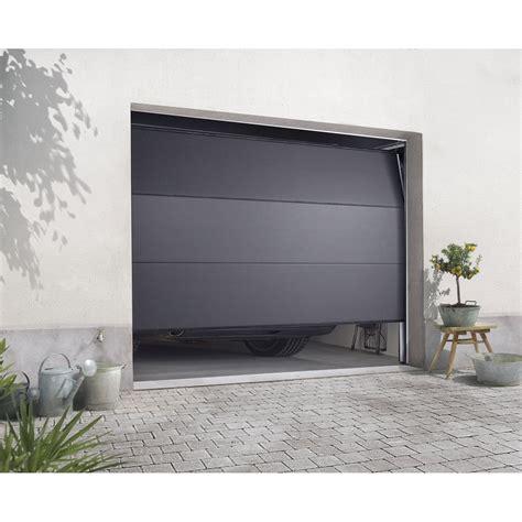 porte de garage sectionnelle excellence h 200 x l 240 cm leroy merlin