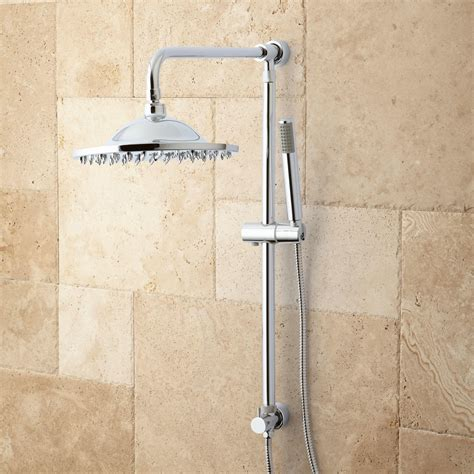 grohe shower systems with sprays bostonian brass rainfall nozzle retrofit shower system