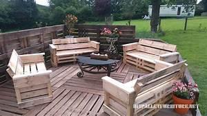 Terrasse Avec Palette : super terrasse avec palettes meuble en palette meuble en palette ~ Melissatoandfro.com Idées de Décoration
