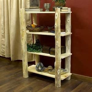 Amazon com - Cedar Lake Open Log Bookshelf - Bookcases