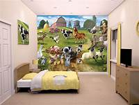 interesting kidsroom wall mural Walltastic Farmyard Fun Kids Wall Mural | Bubs n Grubs