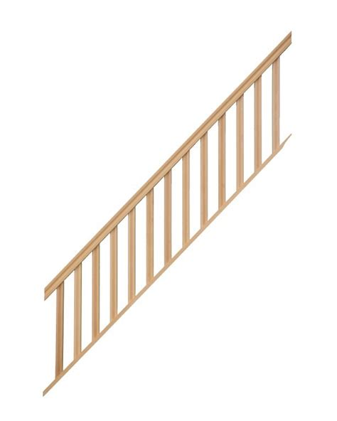 re pour escalier droit hauteur 300 cm balustres rectangles