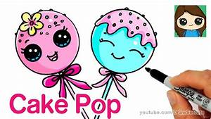 Cute Cartoon Drawings How To Draw Cake Pop Easy - Cute ...