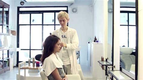 sissy boy at the hairdresser boy hair salon