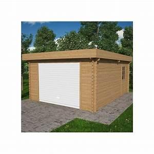 Garage En Bois Toit Plat : garage en bois toit plat 410 x 530 cm plantes et jardins ~ Dailycaller-alerts.com Idées de Décoration