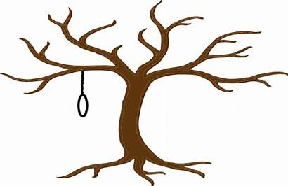 Tree Clip Clipart Hanging Leaves Noose Cliparts