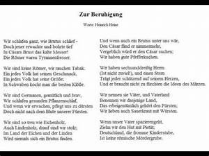 Atemübung Zur Beruhigung : zur beruhigung worte heinrich heine christoph holzh fer youtube ~ A.2002-acura-tl-radio.info Haus und Dekorationen
