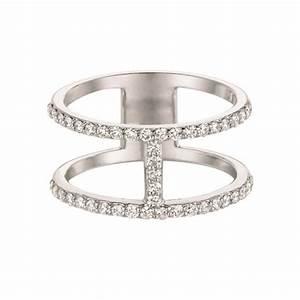Letter H Diamond Ring
