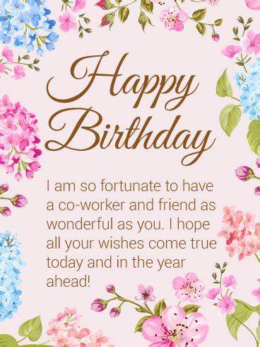 happy birthday flower card   worker birthday