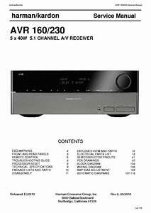 Harman Kardon Avr160 230 Service Manual Download  Schematics  Eeprom  Repair Info For