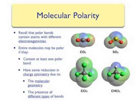 Polarity And Molecular Geometry Youtube