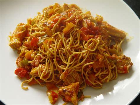 recette pate a nouille wok de poulet et courgettes au curry et ses nouilles chinoises