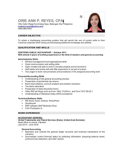 sle resume accounting graduates philippines resume