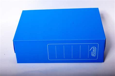 bahiaoffice caja archivo plastica plana oficio  azul