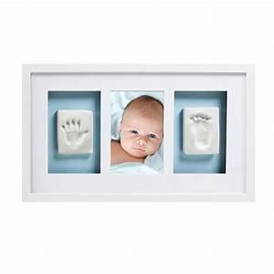 Cadre Blanc Photo : cadre photo b b avec empreintes pied main blanc pearhead ~ Teatrodelosmanantiales.com Idées de Décoration