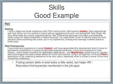 Skills To Write On A Resume  Project Scope Template