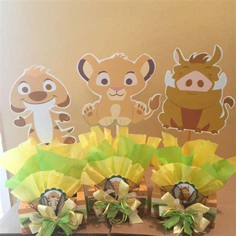 King Baby Shower Decorations - baby king inspired centerpiece simba pumba nala timon