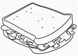 Sandwich Coloring Pages Drink Colorear Para Dibujo Sheet Sub Sandwiches Colouring Stamps Digital Vector Oetletek Cream Ice Getdrawings Sand Digi sketch template