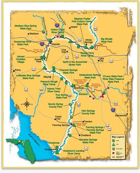 Suwannee River Map