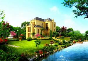 Cool Beautiful House Design HD Wallpaper