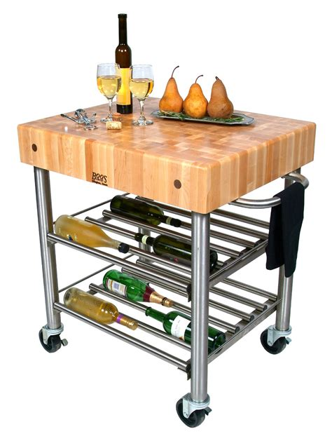 kitchen island cart butcher block boos cucina d amico butcher block wine cart 8150