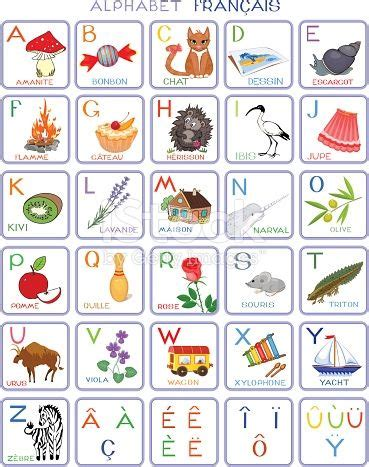 french alphabet  pictures dessin alphabet francais