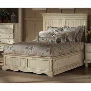 Hillsdale Wilshire 5 Piece Bedroom Set in Antique White ...