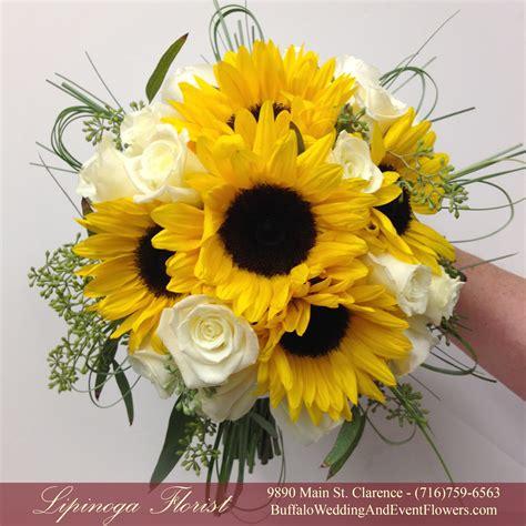 sunflower bridal bouquet buffalo wedding event flowers