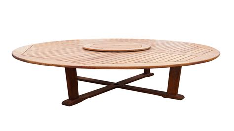 large round table large round patio table with lazy susan crunchymustard