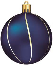 Blue and Gold Christmas Ornament Clip Art