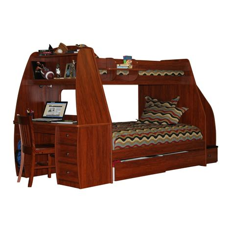 bunk bed with futon and desk bunk bed with desk for your kids homesfeed
