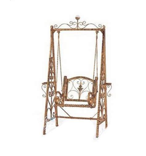 chaise balancoire fer chiaki seul panier extérieur balançoire chaise et