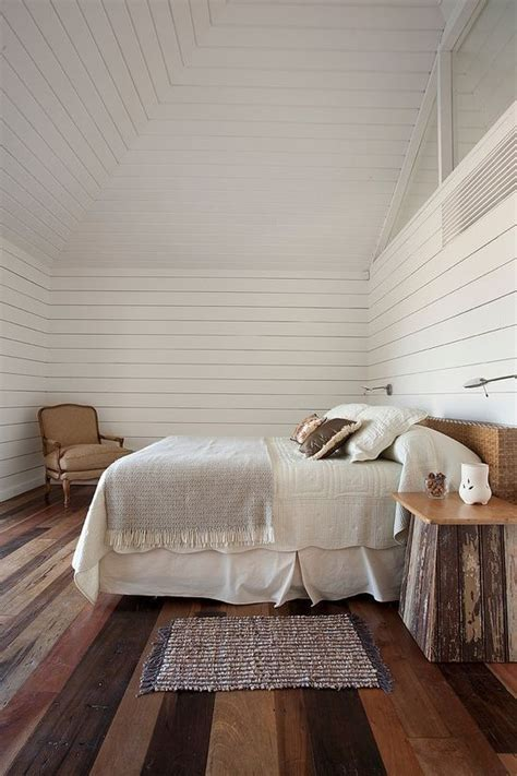 rustic bedroom  white wood walls homedesignboard