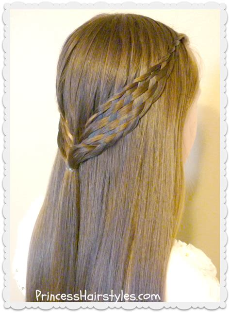 woven braid pull  hairstyle hairstyles  girls